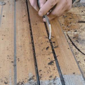 deknadenrubber verwijderen